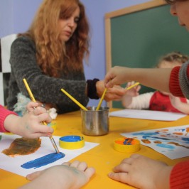 Oficina de pintura com Sabina Sebasti