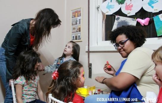 Baile de Outono da Escola Upiá - Pintura Facial com a Prof. Danusa